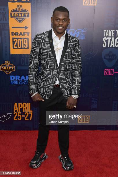 Football player Deandre Baker attends the 2019 NFL Draft on April 25 2019 in Nashville Tennessee