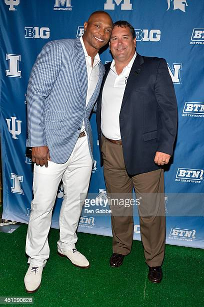 Football player Eddie George and college football coach Brady Hoke attend The Big Ten Network Kick Off Party at Cipriani 42nd Street on June 26 2014...