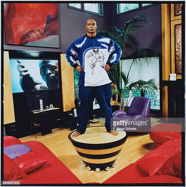 Football player Eddie George is photographed for Stuff Magazine in 2000