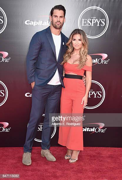 Football player Eric Decker and singer Jessie James attend the 2016 ESPYS at Microsoft Theater on July 13 2016 in Los Angeles California