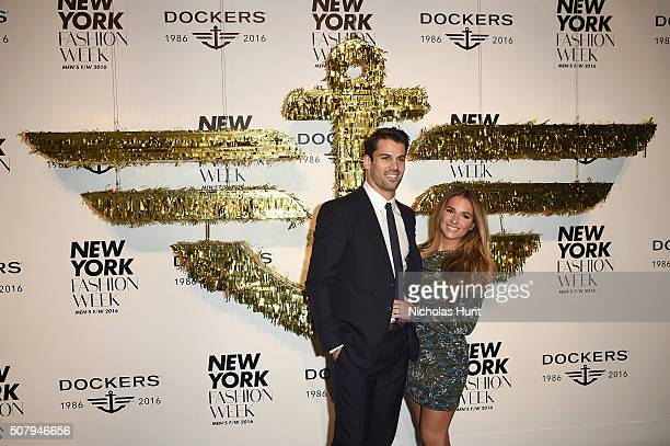 Football player Eric Decker and singer Jessie James attend the Dockers x CFDA NYFWM Opening Party during New York Fashion Week Men's Fall/Winter 2016...