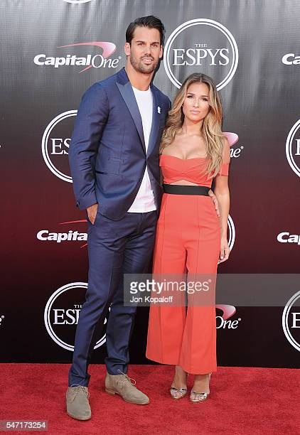 Football player Eric Decker and singer Jessie James Decker arrive at The 2016 ESPYS at Microsoft Theater on July 13, 2016 in Los Angeles, California.