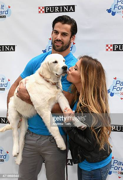 Football player Eric Decker and singer Jessie James Decker attend the Paw It Forward launch at Flatiron Pedestrian Plaza on May 1, 2015 in New York...