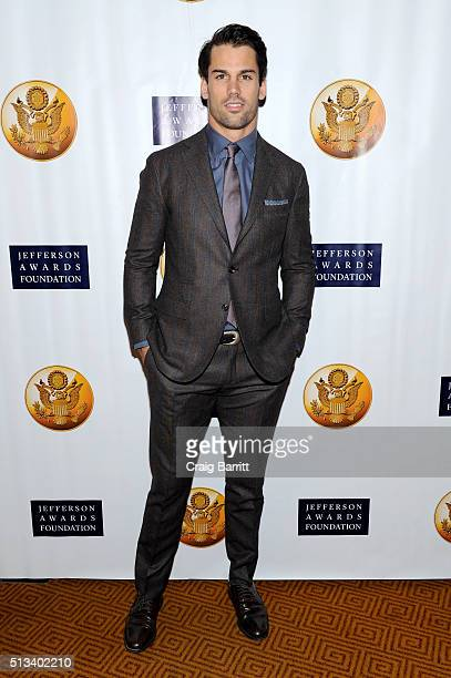 Football player Eric Decker attends Jefferson Awards Foundation 2016 NYC National Ceremony on March 2 at Gotham Hall in New York City.
