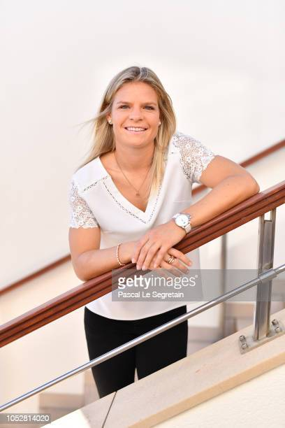 Football player Eugenie Le Sommer poses during the 29th Sportel of Monaco on October 23 2018 in Monaco Monaco