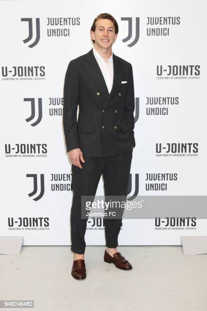 Football player Federico Bernardeschi attends the Juventus Undici experience in partnership with Segafredo at Milan Design Week 2018 on April 14,...