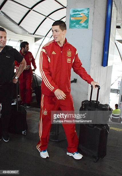 Football player Fernando Torres of the Spanish National Football team are seen on May 29 2014 in Seville Spain