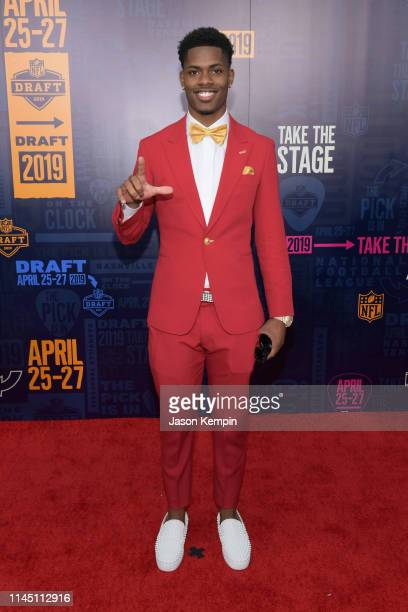 Football player Greedy Williams attends the 2019 NFL Draft on April 25 2019 in Nashville Tennessee