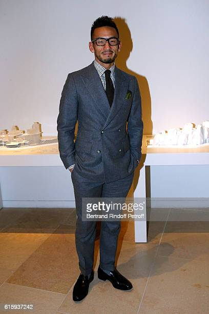 Football Player Hidetoshi Nakata attend the 'Icones de l'Art Moderne La Collection Chtchoukine' Cocktail at Fondation Louis Vuitton on October 20...