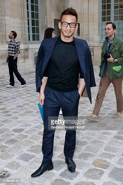 Football Player Hidetoshi Nakata attends the Berluti Menswear Spring/Summer 2016 show as part of Paris Fashion Week Held at Musee Picasso on June 26...