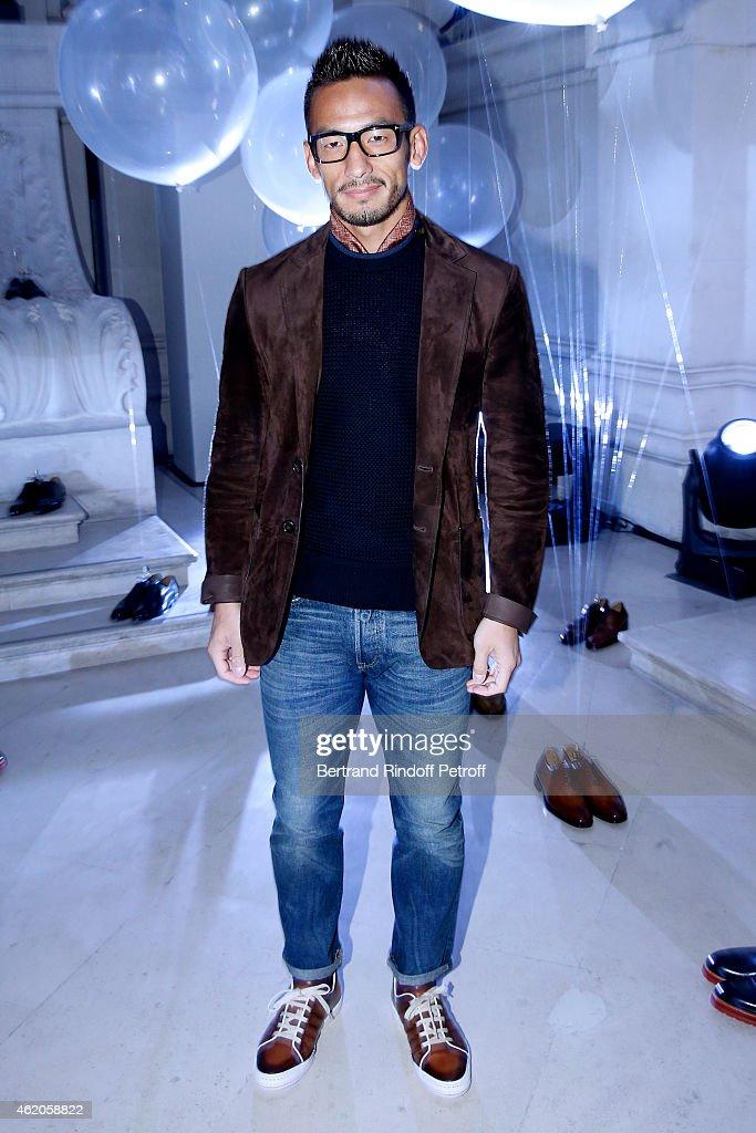 Berluti : Front Row - Paris Fashion Week - Menswear F/W 2015-2016