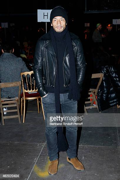Football Player Hidetoshi Nakata attends the Givenchy Menswear Fall/Winter 20152016 Show as part of Paris Fashion Week on January 23 2015 in Paris...