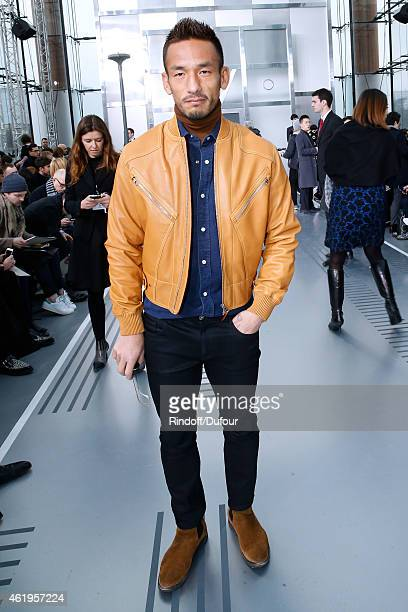 Football Player Hidetoshi Nakata attends the Louis Vuitton Menswear Fall/Winter 20152016 Show as part of Paris Fashion Week on January 22 2015 in...