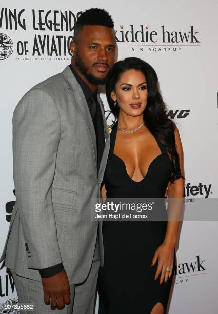 Football player James Anderson and Carissa Rosario attend the 15th Annual Living Legends of Aviation Awards held at The Beverly Hilton Hotel on...