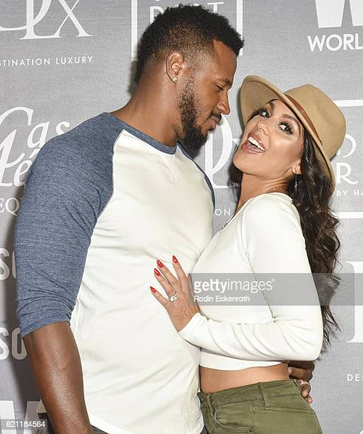 Football player James Anderson and model Carissa Rosario attend WORLDboots official Launch Party supporting Souls 4 Soles Charity at The District by...