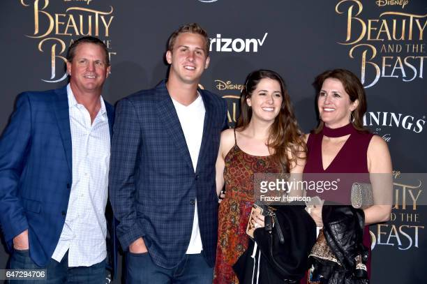 Football player Jared Goff attends Disney's 'Beauty and the Beast' premiere at El Capitan Theatre on March 2 2017 in Los Angeles California