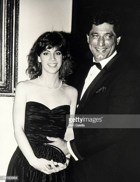 Football player Joe Namath and wife Deborah Mays attending Ronald Reagan Hosts State Dinner Honoring the President of Algeria on April 17 1985 at the...