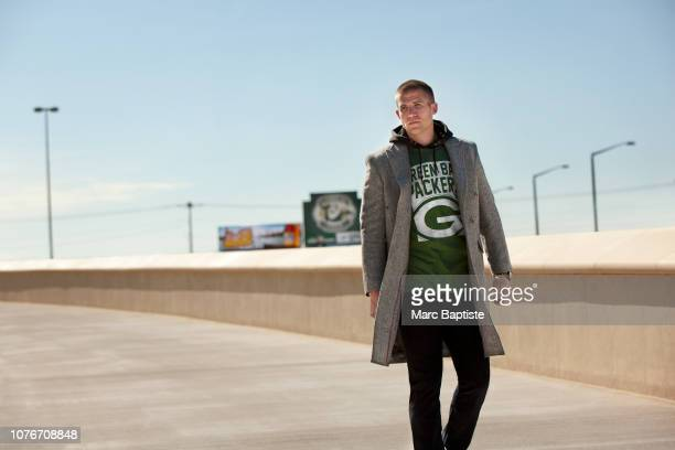 Football player Jordy Nelson is photographed for NFL Style Playbook on June 17, 2015 in Green Bay, Wisconsin. PUBLISHED IMAGE.