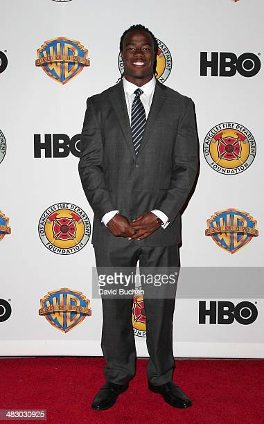USC football player Josh Shaw attends LA Fire Department Foundation Honors Jerry Weintraub at LAFD Disaster Preparedness Unit on April 5 2014 in...