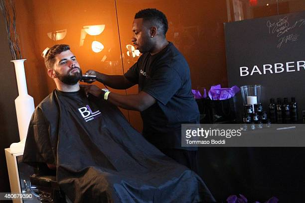 Football player Justin Pugh attends the GBK PreESPY lounge held at the Andaz Hotel on July 13 2015 in Los Angeles California