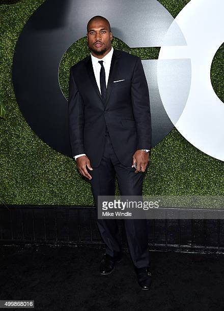 Football player Larry English attends the GQ 20th Anniversary Men Of The Year Party at Chateau Marmont on December 3, 2015 in Los Angeles, California.