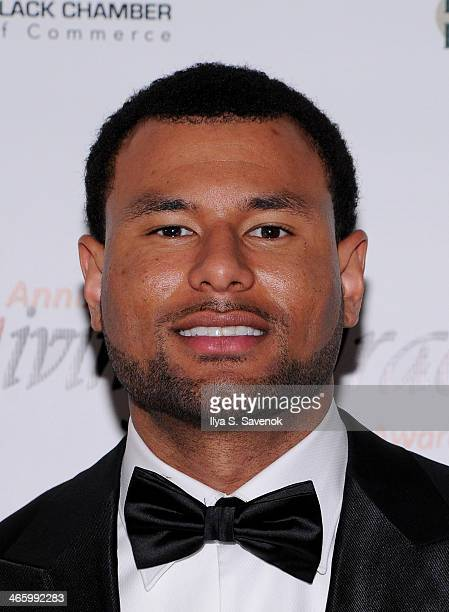 Football player Louis Murphy attends the 4th Annual Giving Gracefully Awards Super Bowl Edition 2014 at The Cube at Riverpark on January 30 2014 in...