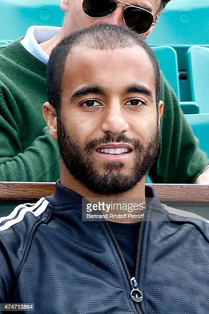 Football player Lucas Rodrigues Moura da Silva attends the 2015 Roland Garros French Tennis Open Day 2 on May 25 2015 in Paris France