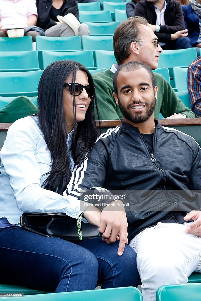 Football player Lucas Rodrigues Moura da Silva attends the 2015 Roland Garros French Tennis Open - Day 2, on May 25, 2015 in Paris, France.