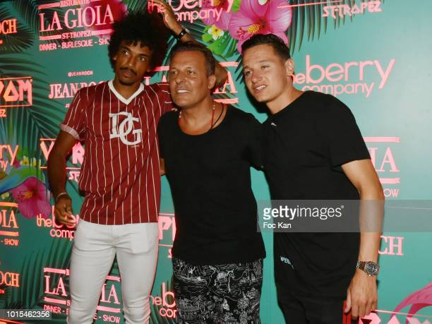OM football player Luis Gustavo Jean Roch Pedri and OM football player Florian Thauvin attend the Playboy Party at VIP Room SaintTropez Party On The...