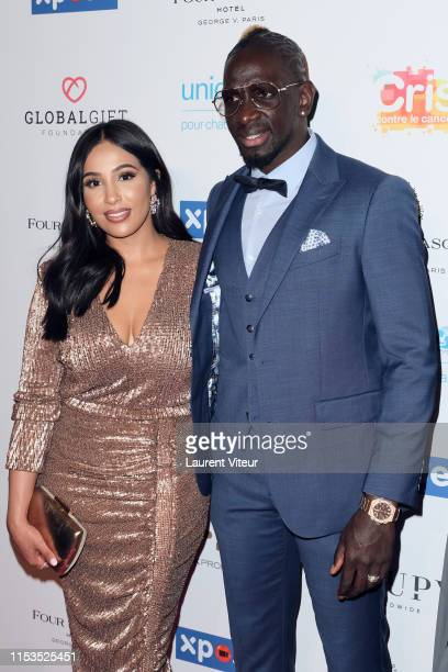 Football Player Mamadou Sakho and his wife Majda Sakho attend the Global Gift Gala Paris 2019 at Four Seasons Hotel George V on June 03 2019 in Paris...