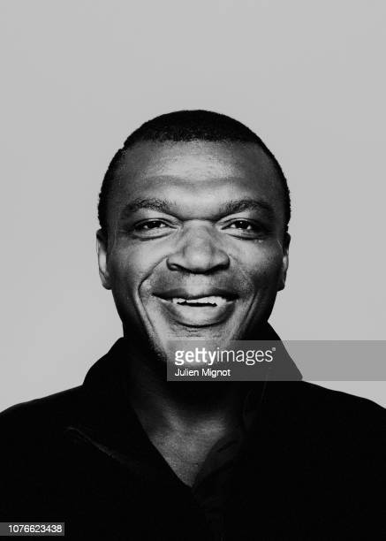 Football player Marcel Desailly poses for a portrait on February 2018 in Monaco France