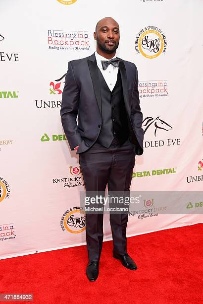 Football player Mario Urrutia attends the 141st Kentucky Derby Unbridled Eve Gala at Galt House Hotel Suites on May 1 2015 in Louisville Kentucky