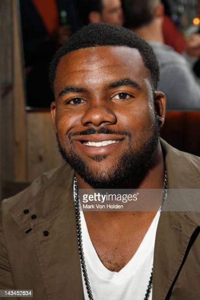 Football Player Mark Ingram attend the Paige management group 2nd annual NFL draft QA event at The Ainsworth on April 26 2012 in New York City