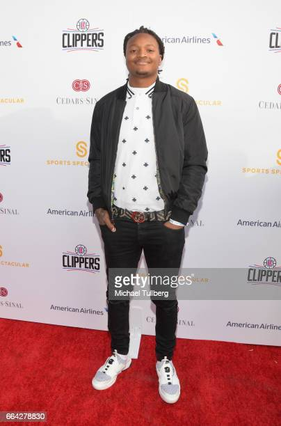 Football player Marqui Christian attend the 32nd Annual Cedars-Sinai Sports Spectacular Gala at W Los Angeles - Westwood on April 3, 2017 in Los...