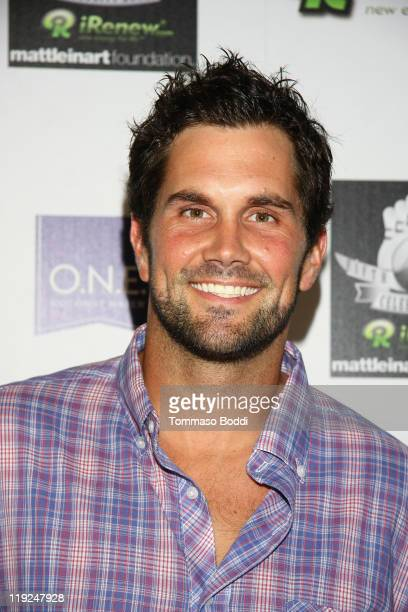 Football player Matt Leinart attends the Matt Leinart Foundation's Fifth Annual Celebrity Bowl held at Lucky Strike Bowling Alley on July 14 2011 in...