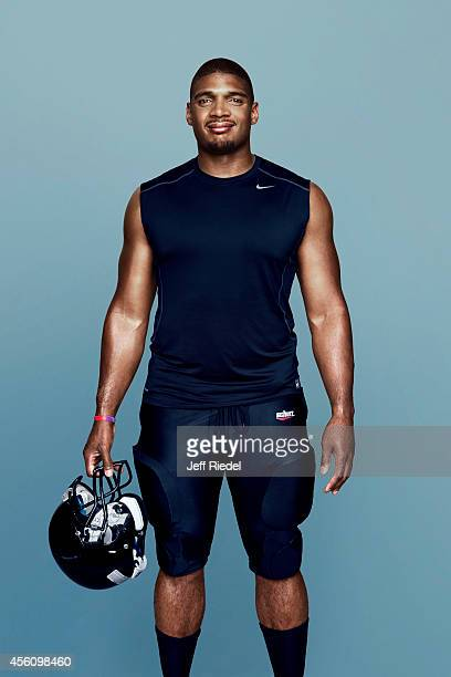 Football player Michael Sam is photographed for People Magazine on May 5 2014 in New York City