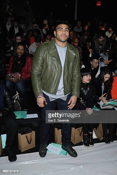 Football Player Mychal Kendricks attends the Concept Korea fashion show during MercedesBenz Fashion Week Fall 2014 at The Salon at Lincoln Center on...