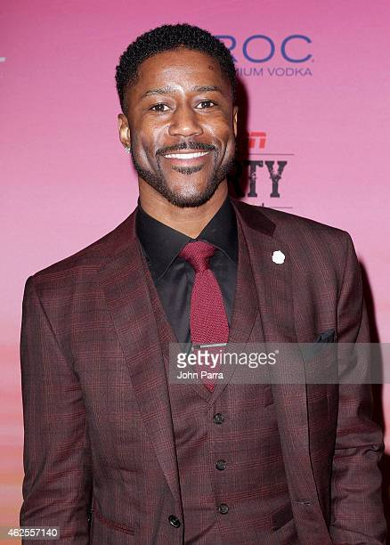 Football player Nate Burleson attends ESPN the Party at WestWorld of Scottsdale on January 30 2015 in Scottsdale Arizona