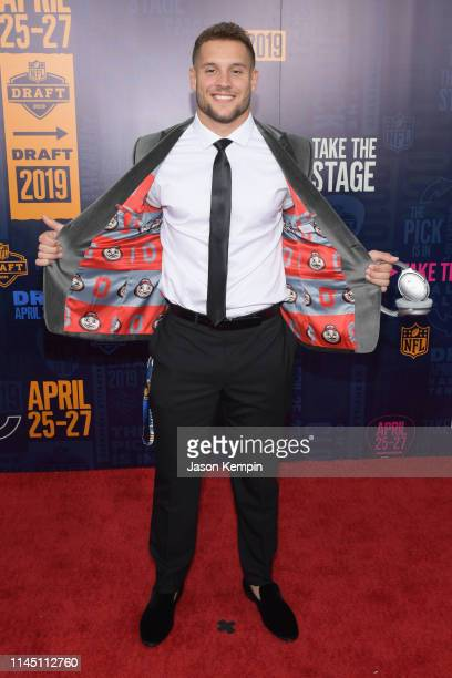 Football player Nick Bosa attends the 2019 NFL Draft on April 25 2019 in Nashville Tennessee