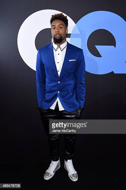 Football player Odell Beckham Jr attends GQ and LeBron James Celebrate AllStar Style on February 14 2015 in New York City