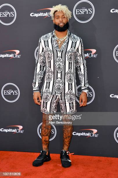 Football player Odell Beckham Jr attends The 2018 ESPYS at Microsoft Theater on July 18 2018 in Los Angeles California