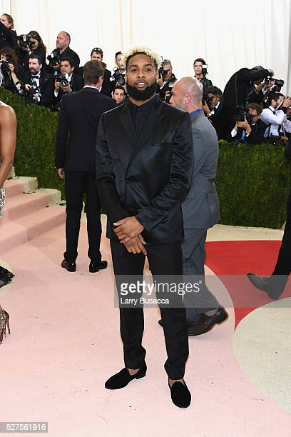 """Football player Odell Beckham Jr. Attends the """"Manus x Machina: Fashion In An Age Of Technology"""" Costume Institute Gala at Metropolitan Museum of Art..."""