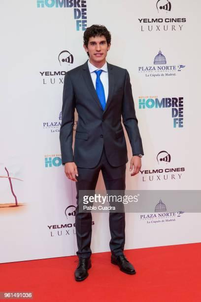 Football player of Real Madrid Jesus Vallejo attends the 'Hombre De Fe' premiere at Yelmo cinema on May 22 2018 in San Sebastian de los Reyes Spain