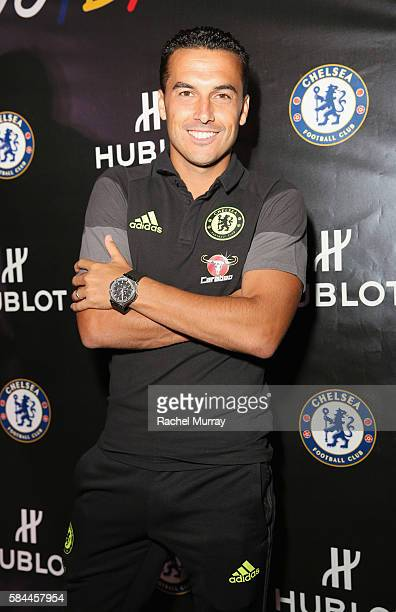 Football player Pedro attends Hublot x Chelsea FC event in Los Angeles at Sony Pictures Studios on July 28 2016 in Culver City California