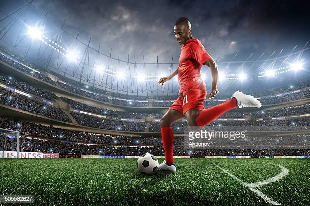 football player - internationale voetbal stockfoto's en -beelden