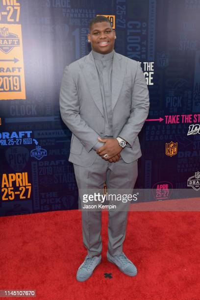 Football player Quinnen Williams attends the 2019 NFL Draft on April 25 2019 in Nashville Tennessee