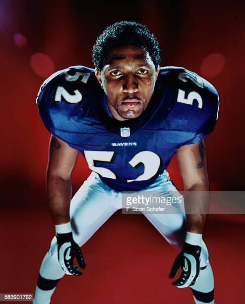 Football player Ray Lewis is photographed for ESPN The Magazine in 2000 COVER IMAGE
