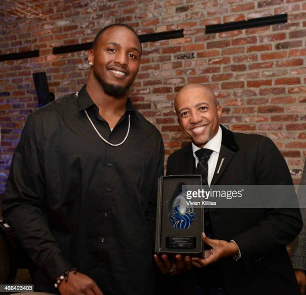 Football player Robert Quinn and Kevin Liles attend KWL's 4th Annual Sports And Entertainment Celebration Honoring NFL's Rising Stars Colin...