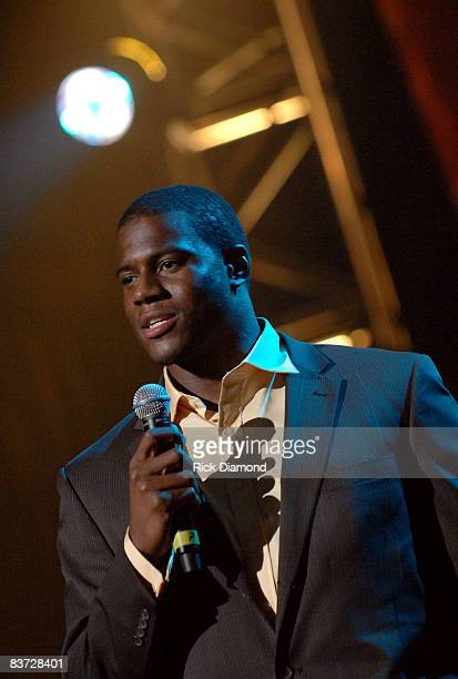Football player Roy Manning attends the 9th Annual NFL Sanctioned 2008 Super Bowl Gospel Celebration held at Phoenix Symphony Hall on February 1 2008...