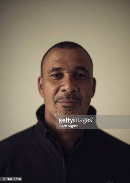 Football player Ruud Gullit poses for a portrait on February 2018 in Monaco France